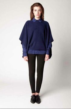 Multiwear Knit Cape Bell Sleeves, Bell Sleeve Top, Knitted Cape, Normcore, Studio, Knitting, Spring, Silver, Collection