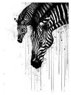 Zebra art work, love it