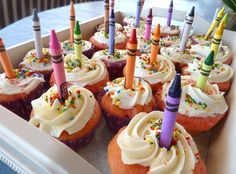 Inspiring Ideas with artist Jeanne Winters: Kids Back-To-School Party Cupcakes, Annual Picture and Breakfast Traditions