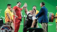 Making History  World's strongest Paralympian. Benched 305 kg(672lbs). Iranian powerlifter breaks world record thrice, wins Rio Paralympics Gold on Wed Sep 14, 2016. Siamand Rahmani The 28-year-old Iranian benched weights of 305 kilograms to smash his own world record of 296 kilograms.