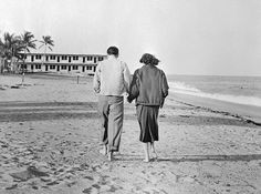 Ava Gardner and Frank Sinatra photographed in Miami, Florida on 9 November 1951