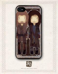Iphone 5 hard or rubber case cute Fili and Kili / the Hobbit