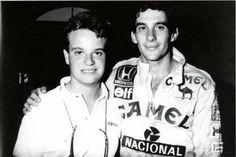 A very young Rubens Barrichello and Ayrton Senna