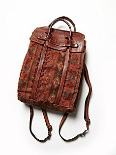 Free People Campomaggi Johannes Backpack I have leather fabric. Vintage Leather Backpack, Brown Leather Backpack, Leather Bags, Leather Fabric, Brown Backpacks, Vintage Backpacks, Leather Backpacks, Tribal Bags, Boho Bags