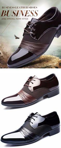 af3925d05069 Men Large Size Formal Pointed Toe Lace Up Business Blucher Shoes is  designed for the formal occasion