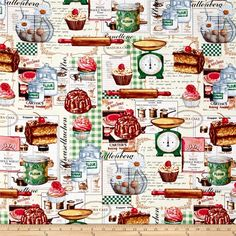 Just Desserts All Over Baking Motifs Multi