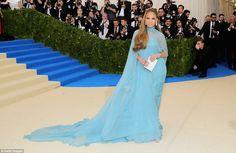 MET GALA 2017 Blue moon: J Lo looked her very best in her baby blue Valentino dress...