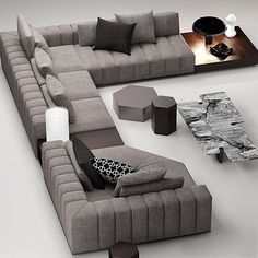 100 Awesome Modern Sofa Design Ideas that You Never Seen Before - OMG Decorations - pin-style Corner Sofa Design, Sofa Bed Design, Corner Sofa Set, Living Room Sofa Design, Living Room Designs, Corner Sofa Living Room, Living Rooms, Design Room, Latest Sofa Designs