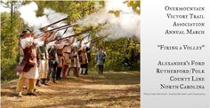 Every September, members of the Overmountain Victory Trail Association (OVTA) don period dress and march along the path from Tennessee to King's Mountain.
