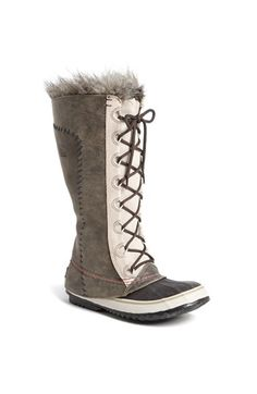 SOREL 'Cate the Great - Deco' Waterproof Suede Duck Boot available at #Nordstrom