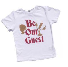 BE OUR GUEST Beauty Beast Princess Belle Love bodysuit Tee