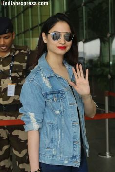 Indian Heroine Photo, Denim Button Up, Button Up Shirts, Tammana Bhatia, Heroine Photos, I Like Him, South Actress, Indian Beauty, Bollywood Actress