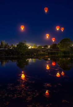 "travelthisworld: "" Dawn Patrol at Great Reno Balloon Race Reno, Nevada, USA 