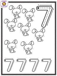 Μαθαίνω τους αριθμούς - stologomas.gr - Λογοθεραπεία στο Γέρακα Preschool Writing, Numbers Preschool, Preschool Education, Learning Numbers, Writing Numbers, Preschool Activities, Printable Preschool Worksheets, Kindergarten Worksheets, Math Pages