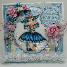Handmade OOAK Cards by The Hoosier Stamper: Sherri Baldy's Dottie Lottie Happy Easter