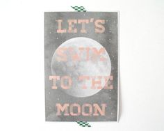Moon Print by vaporqualquer on Etsy