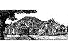Eplans French Country House Plan - Straight Out of a Fairy Tale - 2630 Square Feet and 4 Bedrooms(s) from Eplans - House Plan Code HWEPL05189