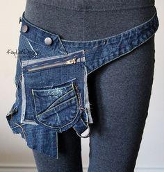 Coole Tasche aus Jeansresten