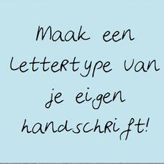 Maak van je handschrift een lettertype, met deze gratis tool (verwijzing)