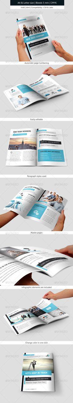 Corporate Brochure Indesign Template Annual Report
