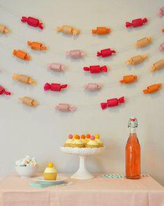 Poppytalk: Party! | 7 Fun Party DIYs candy garland-pool noodles