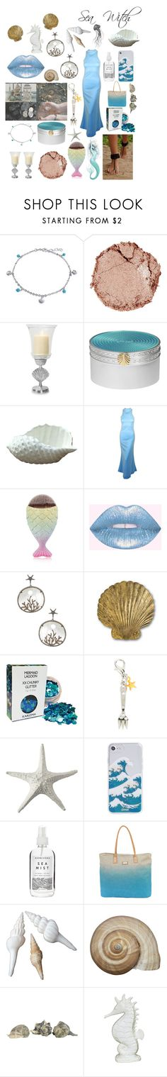 """Sea witch ✨🌊"" by witchousenova ❤ liked on Polyvore featuring Bling Jewelry, Chantecaille, Shoreline, Wedgwood, Bavna, Currey & Company, Disney, Abbott Collection, Sonix and Herbivore"