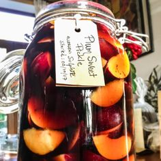 A sweet pickle of plums! Sweet as honey! Link to WasteLess dinner tickets on profile. https://www.eventbrite.co.uk/e/wasteless-dinner-tickets-37322064299  #wastenot #food #cardiff #event #popup