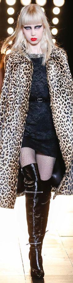 Fall 2015 Ready-to-Wear Saint Laurent- leopard