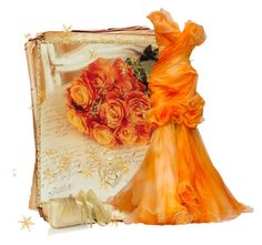 """""""ORANGE ROSE"""" by anneanton ❤ liked on Polyvore featuring Accessorize"""