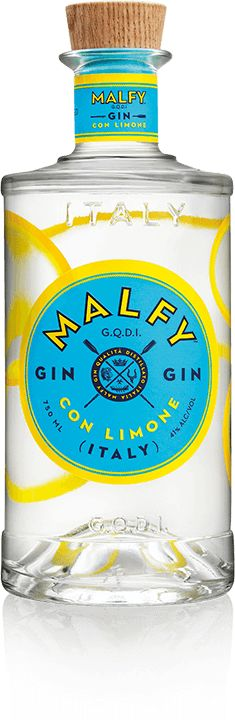 Malfy Gin | Gin from Italy distilled with lemons(Gin Bottle Design)