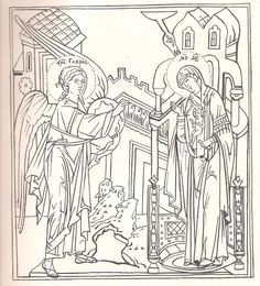 Russian manual for iconographers Annunciation, Saint Coloring, Orthodox Christian Icons, Line Drawing, Cartoon Icons, Christian Art, Linear Art, Art Icon, Coloring Pages