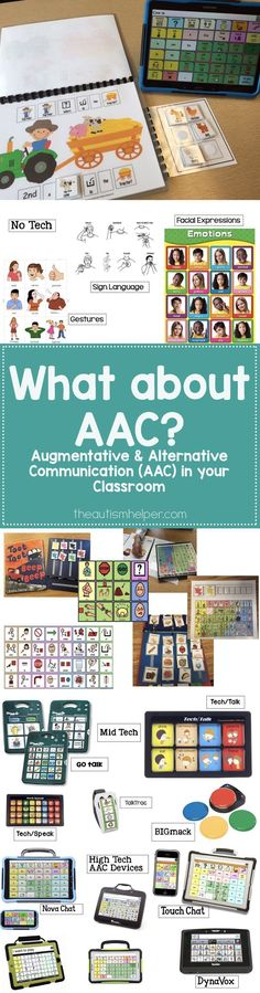 Sarah the Speech Helper helps us take a closer look at AAC & how it can look in your classroom! From http://theautismhelper.com #theautismhelper