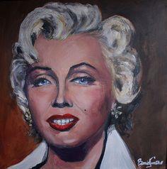 Marilyn Monroe - Marilyn in Oil by David Tunstall, via Flickr