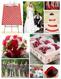 Cherry Red - see more inspiration at diyweddingsmag.com #diywedding