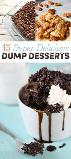 15 super-lazy dump desserts that are delicious as hell food Summer Desserts, Just Desserts, Delicious Desserts, Yummy Food, Homemade Desserts, Yummy Eats, Fun Food, Dump Cake Recipes, Dessert Recipes