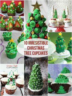 10 Irresistible Christmas Tree Cupcakes | Roxy's Kitchen