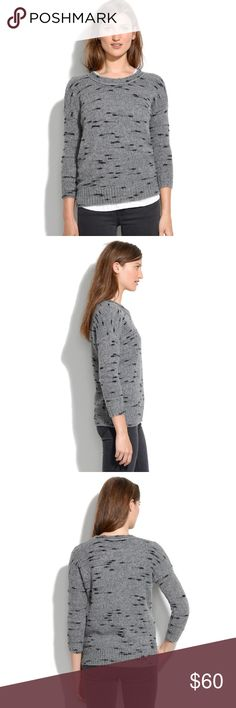 Madewell ' dusklight ' Crewneck Sweater | Medium Madewell dusklight Sweater Women's Size Medium    Originally purchased for $128    item 03425    Perfectly swingy and nonchalant. A quietly graphic pattern. Loose fit.  Material: Wool/acrylic/polyamide. Madewell Sweaters