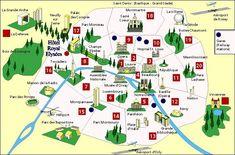 kaart van parijs bezienswaardigheden