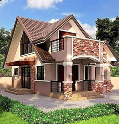 Modern Bungalow Designs Plans Awesome House with attic In 2020 – simple country house plans Craftsman Bungalow House Plans, Small Bungalow, Modern Bungalow House, Modern House Plans, Bungalow Designs, Two Story House Design, Simple House Design, Dream Home Design, House Plan With Loft