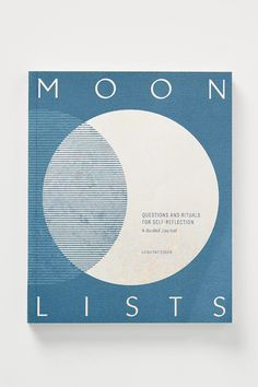 Moon Lists: A Guided Journal by Anthropologie in Assorted, Stationery Book Cover Design, Book Design, Layout Design, Web Design, Magazine Design, Dream Journal, Journal List, Life Journal, Design Typography