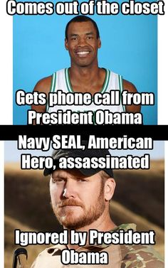 Hmm.  This makes me incredibly angry!  I don't care if Mr. Collins is gay or straight, but his news that he is gay does not warrant a personal call from the President of the United States (Obama) for heavens sake!  Especially when you realize that the Commander and Chief (also Obama) has completely ignored the death of four American heroes in Bengazi!