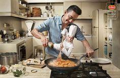 Del Monte Spaghetti Advertising Poster - nice treatment on logo+tagline