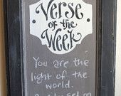 LAYLA Verse of the Week Chalkboard - Charcoal Frame - READY to SHIP