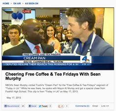 "Tustin Mayor Al Murray with #SeanMurphy @Cream Pan ""Everybody do the Foothill rumble!"" Al Murray, Cheer, Bakery, Tea, Coffee, Kaffee, Humor, Cup Of Coffee, Teas"