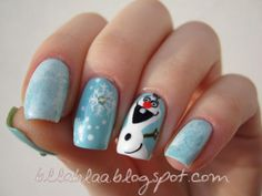 bllablaa FROZEN MOVIE #nail #nails #nailart