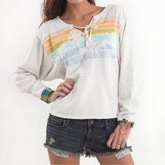 New Arrival V-neck Sand Pattern Loose Sweatshirt
