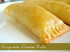 A popular Guyanese snack, Cheese rolls! Pair with cream soda! Yum!