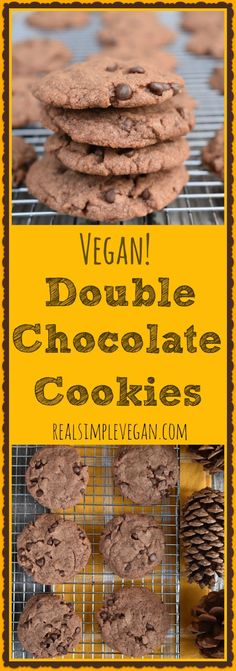 Double Chocolate Cookies | Real. Simple. Vegan.