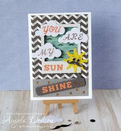 A striking card adorned with the My Guy papers by design member Angela
