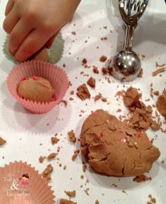 Sensory Play | Chocolate Scented Foam Dough- I'd like to try this with cloud dough
